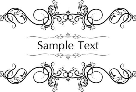Vector vintage frames for text. Illustration