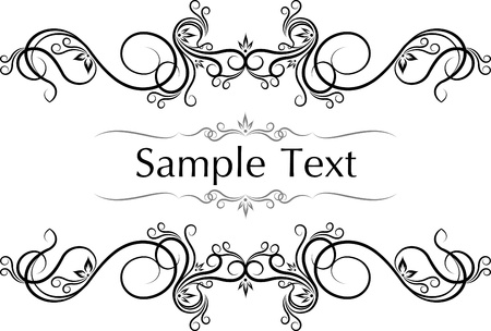 victorian scroll: Vector vintage frames for text. Illustration