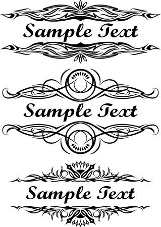 Elegant texts frames.  Vector