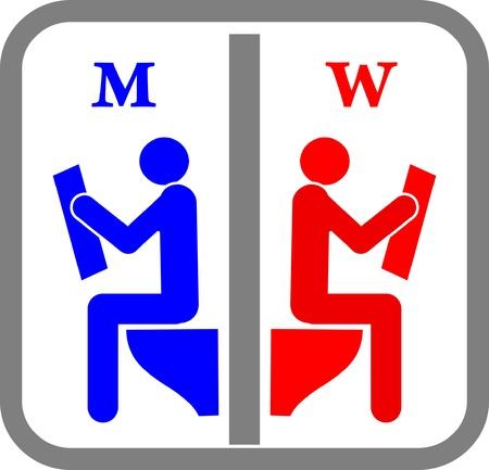 wc: Amüsant WC-Zeichen.
