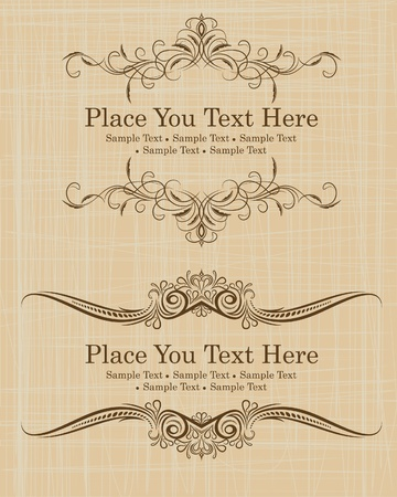 Vintage frames for text  Vector