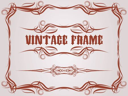 beautiful vector vintage collection  Vector