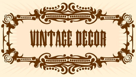 etiqueta: Elegant vintage background.  Illustration
