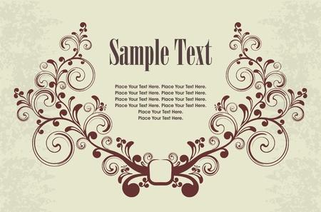 etiqueta: Vintage frame for text