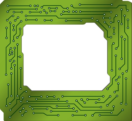 Frame in PCB-layout style  photo