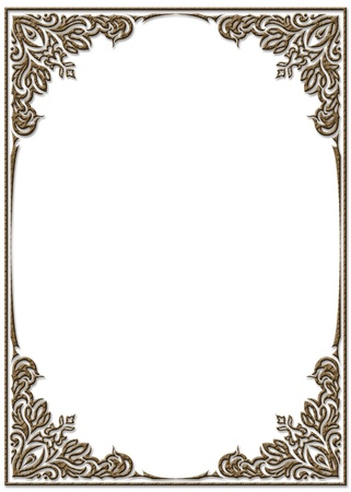 notoriety: Elegant decorative frame.