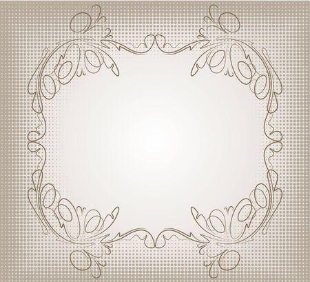 oval  alcohol: Retro frame.