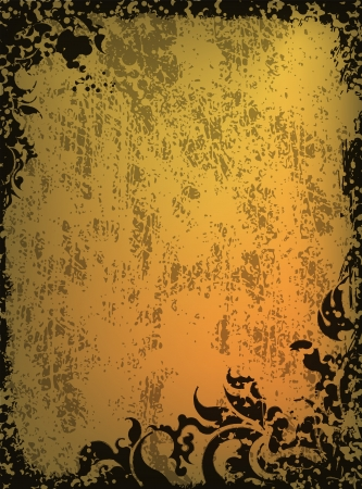 tarnished: Retro-styled vector background.  Stock Photo
