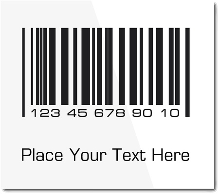 Bar code label with shadow. Vector ilustration.  photo