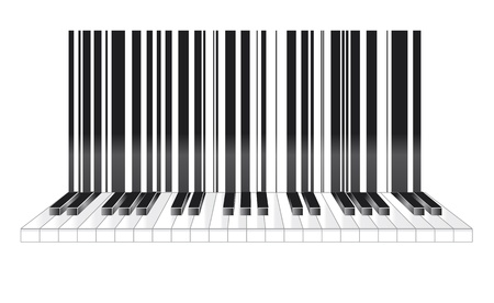 Barcode in musical style photo