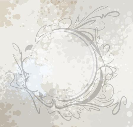 outworn: Elegant oval frame.