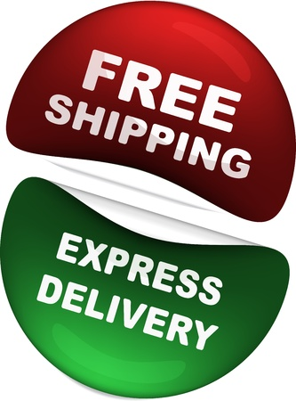 free shipping and express delivery icons  photo