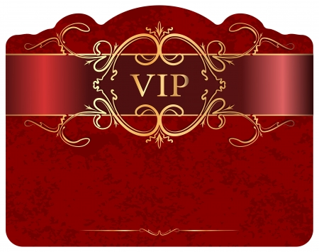 privilege: VIP design.  Stock Photo