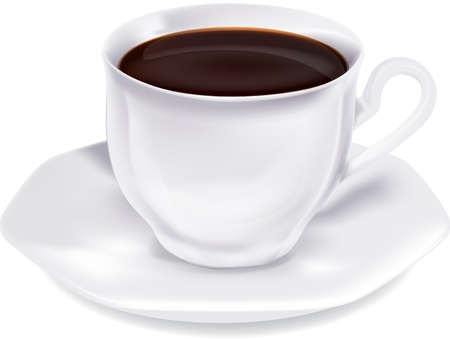 vivacity: Cup of hot coffee