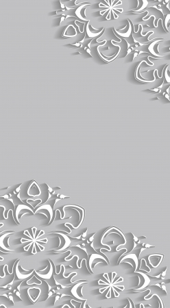 quilling: Christmas cardbackground with paper snowflakes