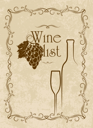menu series: wine list photo