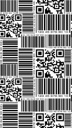 Seamless pattern in barcode style  photo