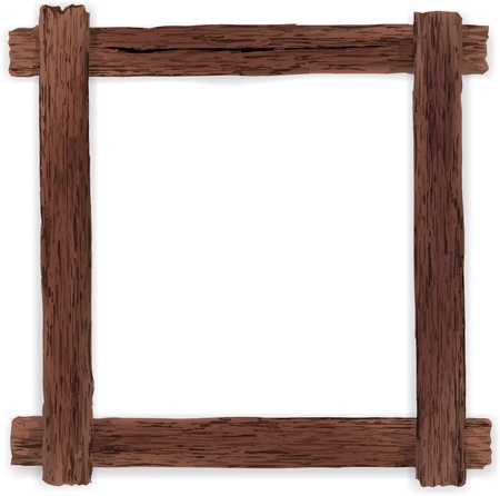 plywood: Old wooden frame. Vector illustration.