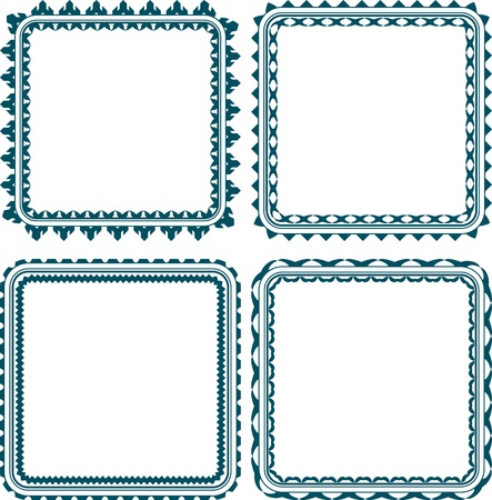 Set of 4 square frame with round corners photo