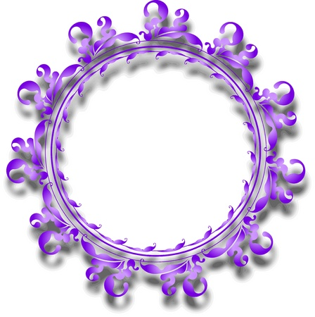 Decorative round frame for your design  photo