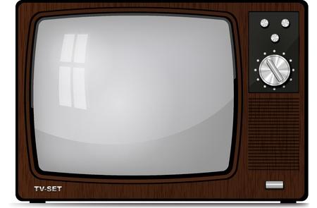 Realistic vintage TV  Illustration on white background for design illustration