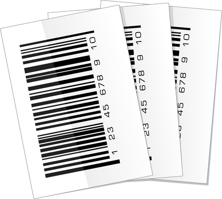 Set of three barcode labels photo
