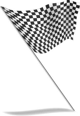 indy: Chequered flag flying  illustration   Stock Photo
