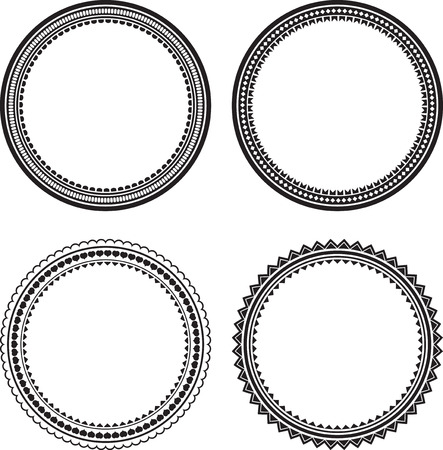 Set of 4 round frames photo