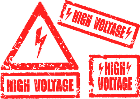 High voltage rubber stamp photo