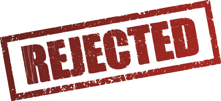 rejected: Rejected rubber stamp Stock Photo