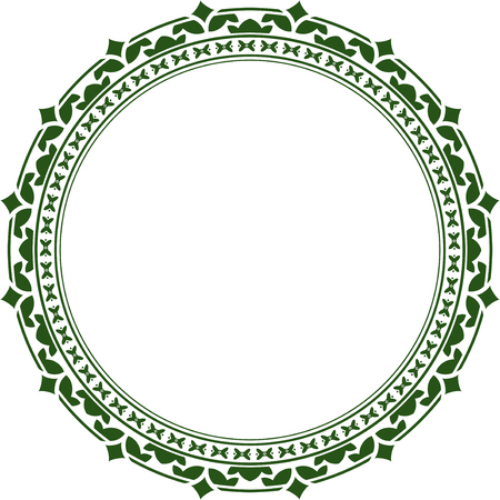 Elegant round frame photo