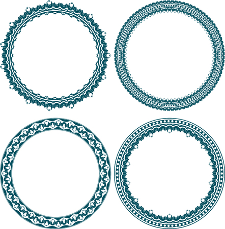 Set of 4 elegant round frames  photo