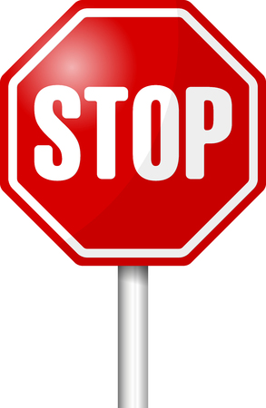 Stop sign  illustration  illustration