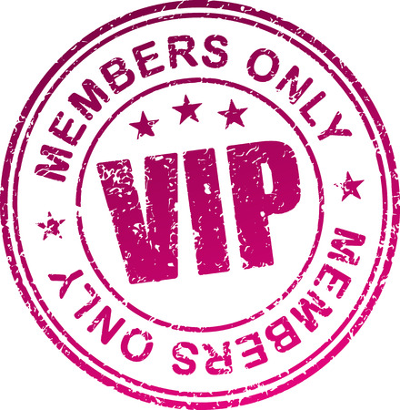 private access: Rubber stamp Vip  Members only  Stock Photo