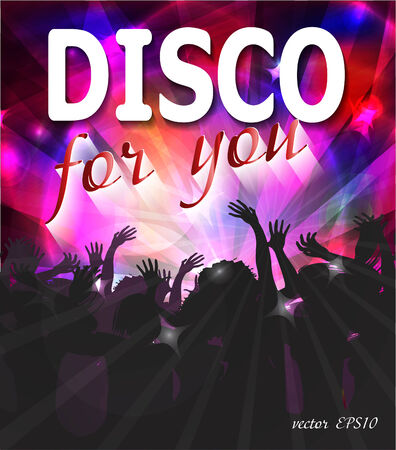 Disco party design photo