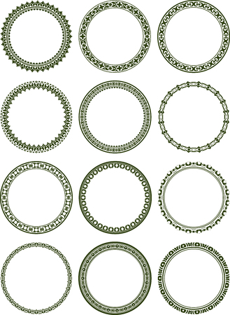 Dozen of elegant round frames  photo