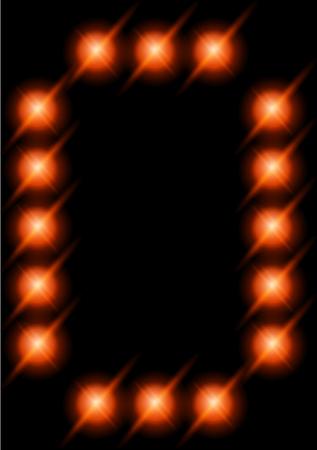 LED letters. photo
