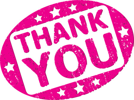 thanks a lot: Thank you rubber stamp