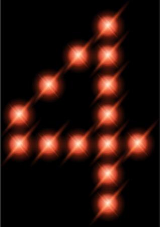 LED digits   photo