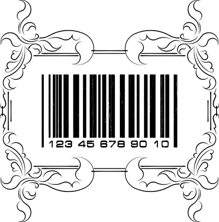 Abstract barcode with frame  photo