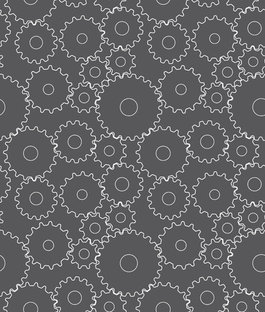 Seamless pattern with gears photo