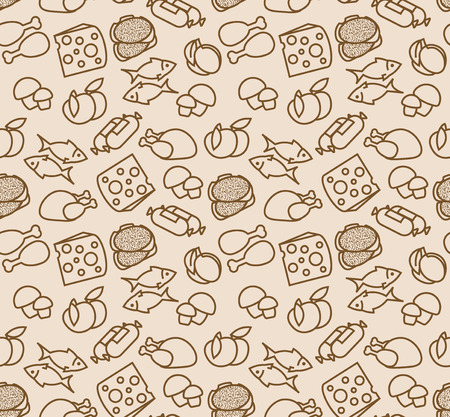 Abstract seamless pattern with food   photo