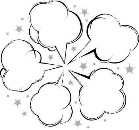 Comic style speech bubbles collection  photo
