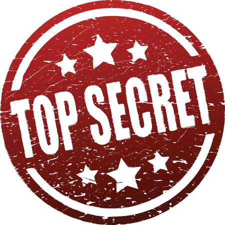 Top secret red rubber stamp  photo