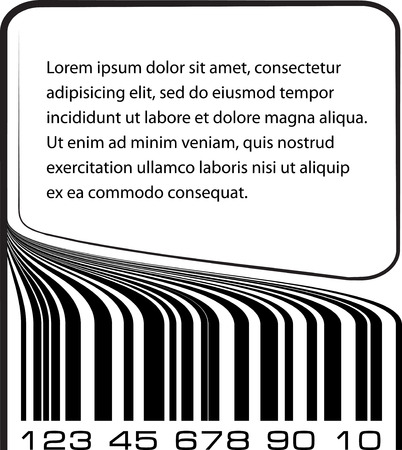 Bar code label with copy-space photo