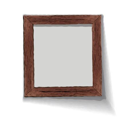 Old wooden frame illustration   illustration