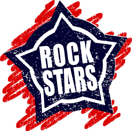 Rubber stamp Rock stars photo