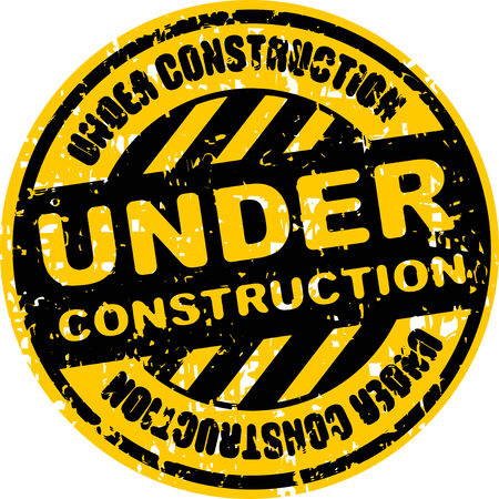 Rubber stamp or sign Under construction photo
