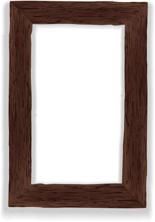 marco madera: Antiguo marco de madera ilustración vectorial Foto de archivo