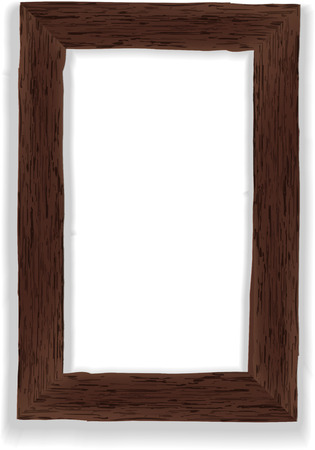 wood furniture: Old wooden frame  Vector illustration